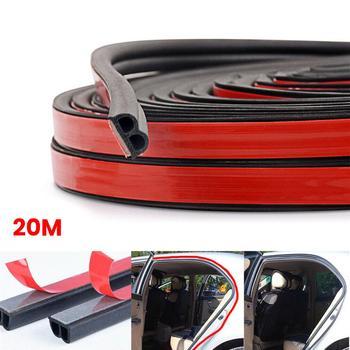 20M B-Shape Seal Strip Car Door Window Trim Edge Moulding Rubber Weatherstrip Soundproof Waterproof Noise Reduction Seal Strip