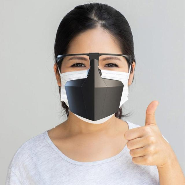Reusable Dustproof Anti-Saliva Isolation Face Shield Protective Cover Mouth Mask Durable Ergonomic Office Mask 3