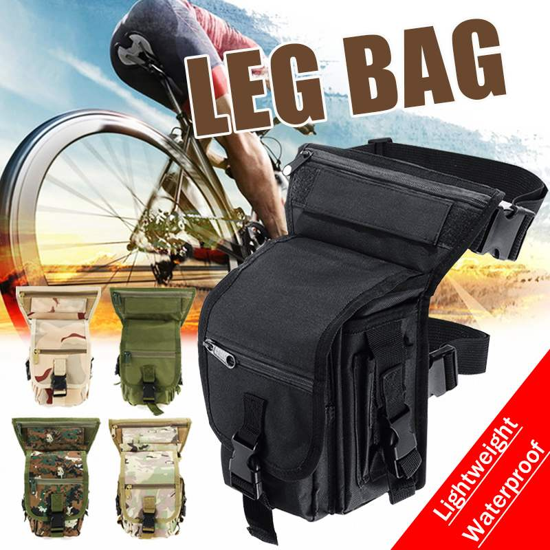 Newest Leg Bag Fashion Men Army Vintage Thigh Bag Utility Waist Pack Pouch Adjustable Hiking Male Waist Hip Motorcycle Belt Bag