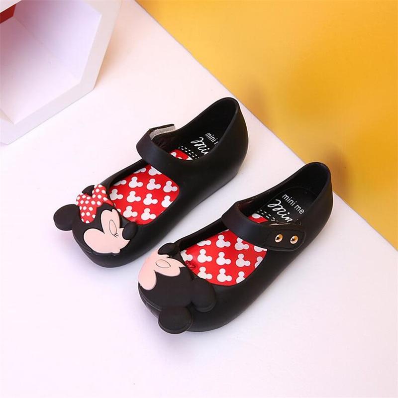 Melissa Children's Shoes New Summer Girls Cartoon Sandals Children's PVC Jelly Kids Beach Shoes Baby Pure Princess Sandals