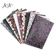 JOJO BOWS 22*30cm 10pcs Faux Synthetic Leather Glitter Fabric sheets Set Holiday Decoration DIY Hair Bow Handmade Craft Supplies