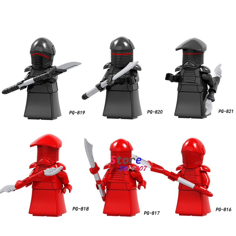 Single Solo A Story Black Red Royal Guard IG-88 Rey Han Solo The Building Block Toys For Children Action Figures