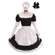Brdwn Fate Stay Night Womens Arturia Pendragon Saber Maid cosplay Costume Apron Dress цена и фото