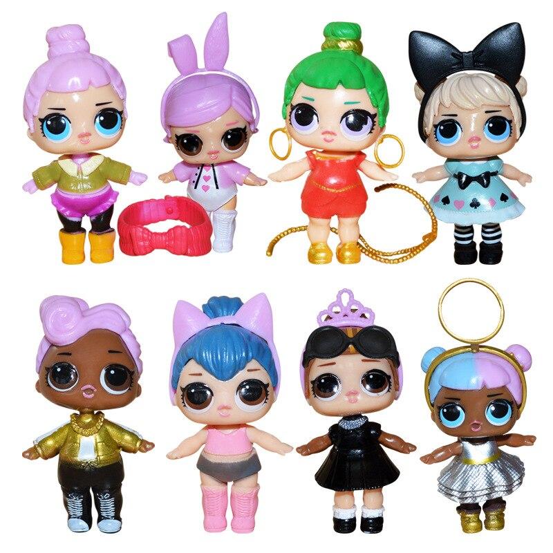 L O L. ¡Sorpresa! Lol surprise dolls juguetes ornamentos juguete confeti Pop glitter series acción figuras Anime para niños regalo de Navidad L O L. ¡Sorpresa! Original lol muñecas juguetes Surpris Generación de muñecas DIY caja ciega Manual moda modelo muñeca juguete Regalo 1 Uds Radom enviado