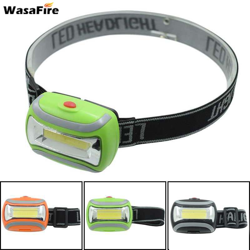 Wasafire 600 Lumen Mini COB LED Headlight Camping Head Lamp 3 Modes Forehead Torch Bicycle Light For Running Hunting