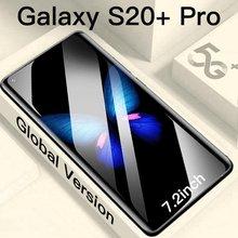 Novo smartphone s20 + pro 7.2 polegada display completo 12gb + 512gb 16mp 32mp reconhecimento facial 4g 5g sim duplo gps versão global celular