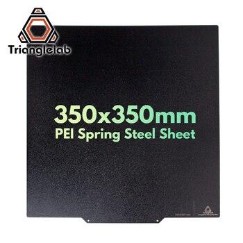 Trianglelab 350X350 двухсторонний текстурированный PEI пружинный стальной лист с порошковым покрытием PEI сборка пластины voron 3D принтер для ABS PETG