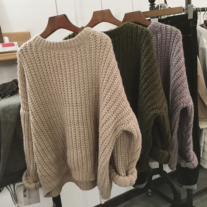 2019 Women Knitwear Pullovers Sweaters Women Autumn Turtle Neck Loose Sweater Jumper Female Chic Sweater Tops Shirts