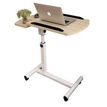 Table de chevet portable Simple pour chambre à coucher, ordinateur portable, Table de chevet pliante, multifonction, avec roues, Table de lit