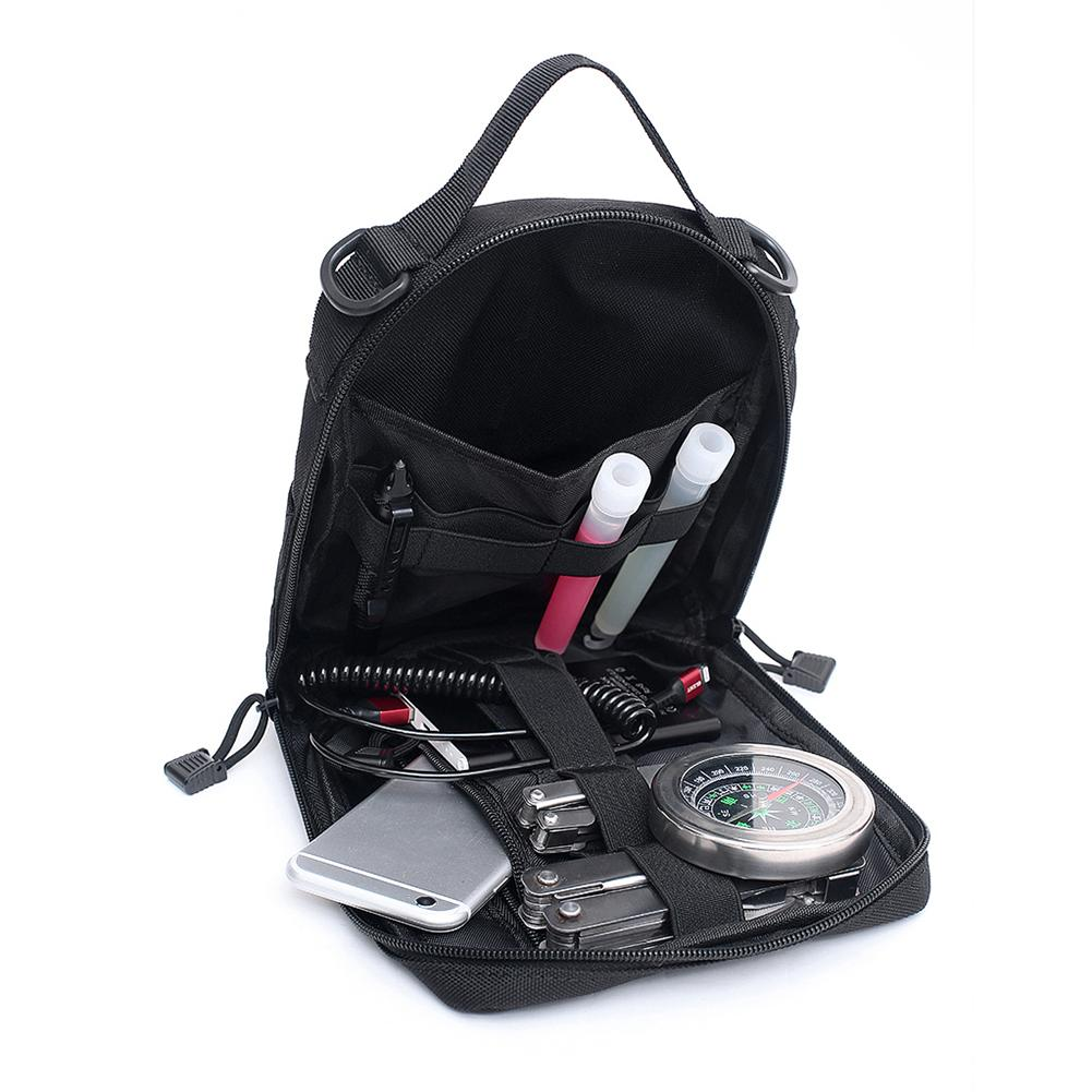 1000D Nylon Tactical Bag Outdoor Molle Military Waist Fanny Pack Mobile Phone Pouch Belt Waist Bag EDC Gear Bag Gadget