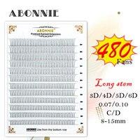 abonnie large Premade Volume Fans 3d/4d/5d/6d Lash Russian Volume Eyelash Extensions Pre made Lash Extension Faux Mink