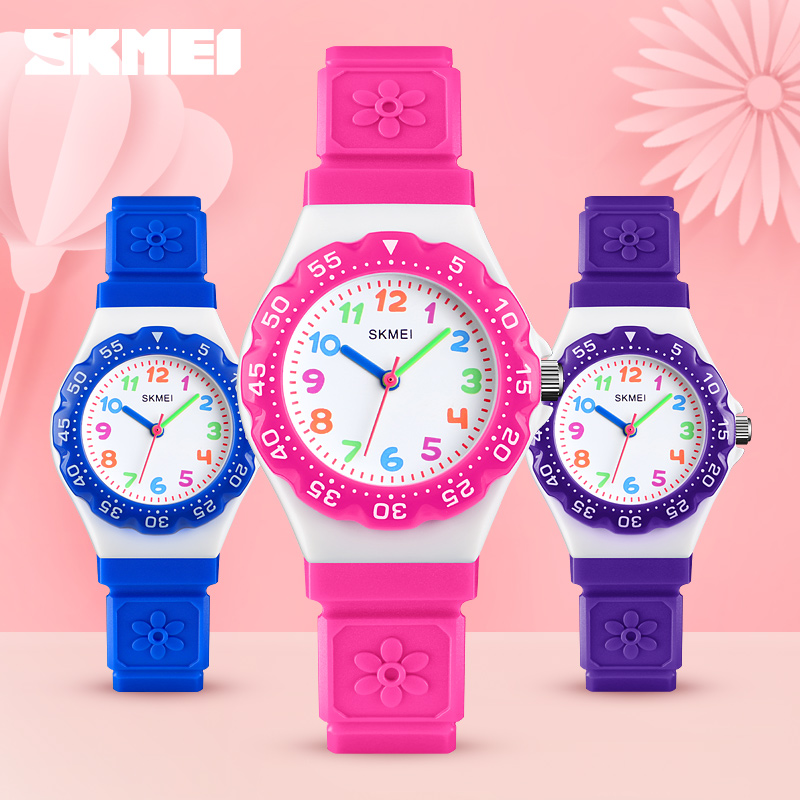 SKMEI NEW Kids Watches Outdoor Sports Wristwatch Boys Girls Waterproof Children Watches PU Wristband Quartz Watches 1483