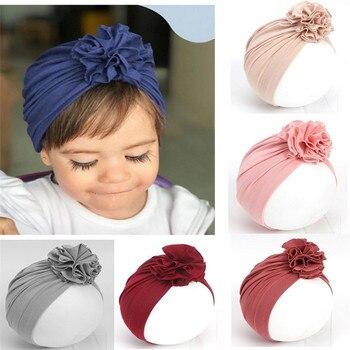 цена на Toddler Kids Baby Headband Girl Headbands  Cotton Knot Bow Turban Headband  Stretchy Baby Hair Accessories Headwear