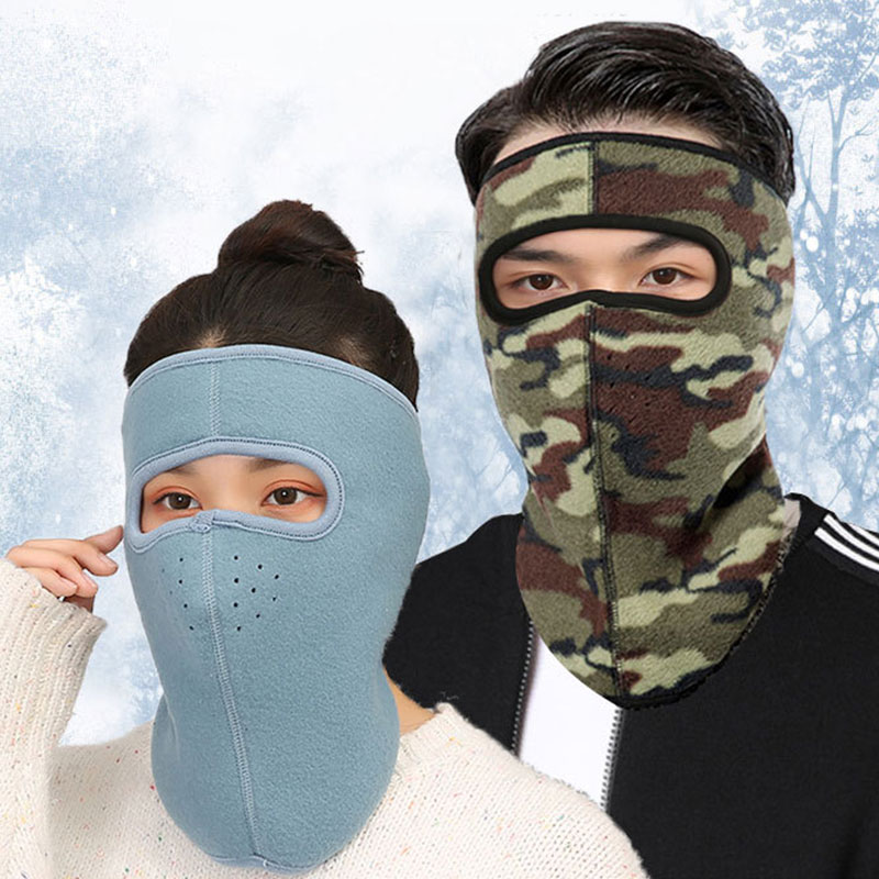 1PC Unisex Winter Earmuffs Neck Warm Mouth Mask Face Masks Women Men Solid/Camouflage Windproof Outdoor Three-in-one Earmuffs
