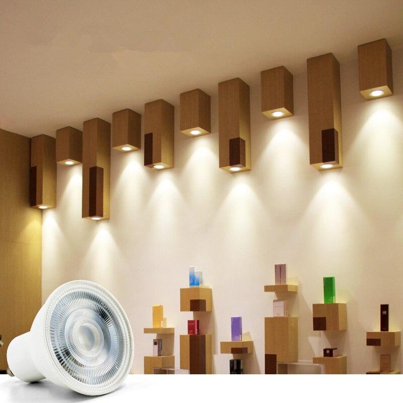 Купить с кэшбэком GU10 MR16 Led Bulb Spotlight 12V 110V 220V Natural Light Nature White 4000k Cool White 6500k Warm White 3000k Dimmable Cob Lamp