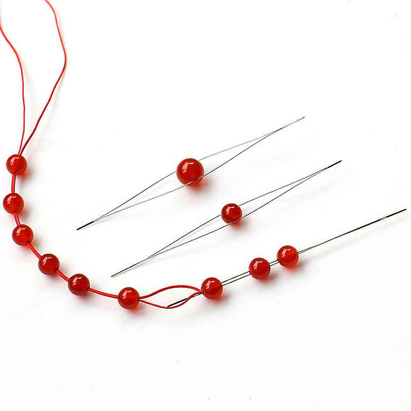 Leicht Perlen Werkzeug Handgemachte Armbänder Pins 125mm Nadel Elastische Schmuck DIY Schnur Threading 1pc Neue Perlen