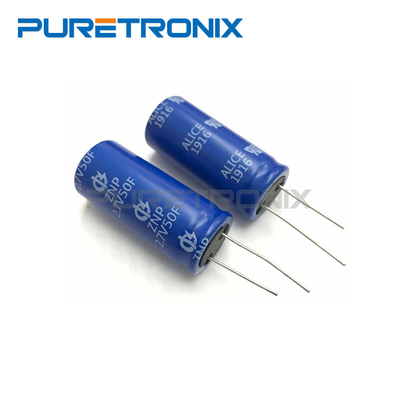 5PCS Ultracapacitors <font><b>2.7v</b></font> <font><b>50F</b></font> <font><b>capacitors</b></font> 2.7V50F image