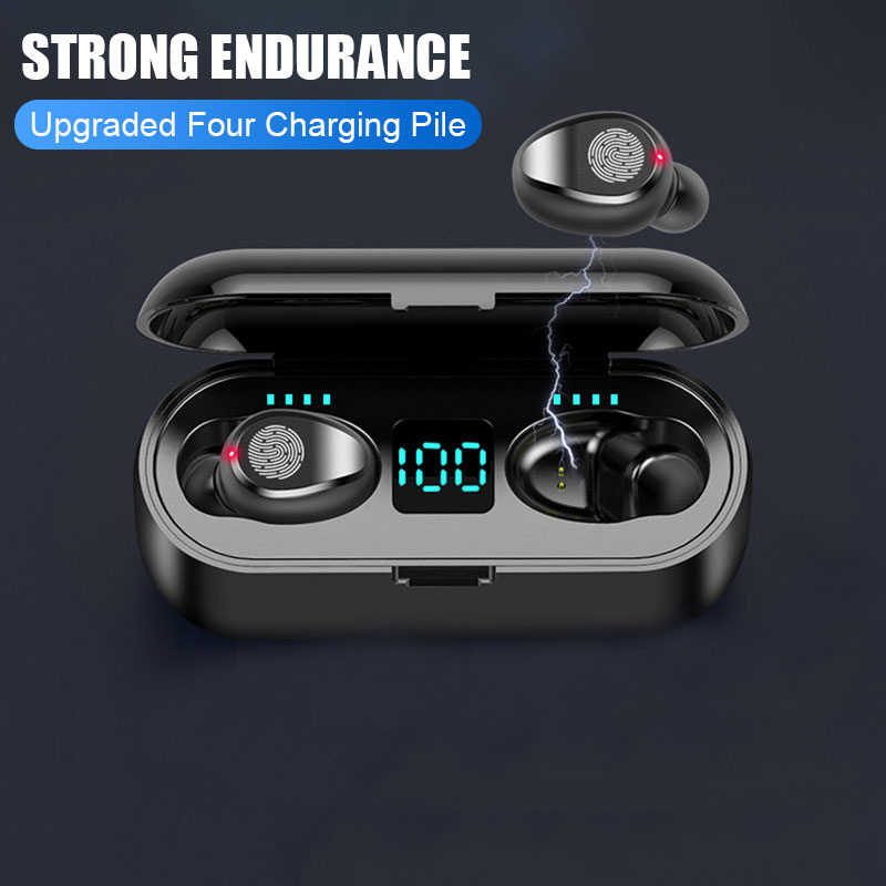 Auriculares Bluetooth auriculares inalámbricos TWS 5,0 auriculares deportivos para móviles a prueba de agua Control táctil con Banco de energía
