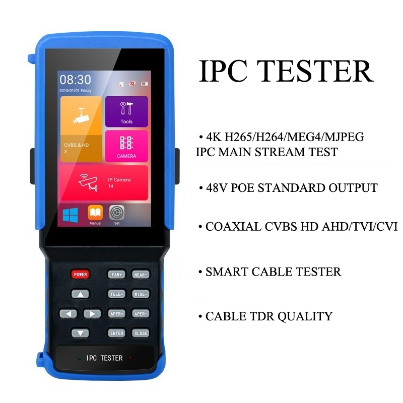 IPC9300  4.3''  Touch Screen 3 In 1 CCTV Tester For IPC1080P/Analog Camera/wifi/TF BNC/12V OUT/RS485 PTZ /Net Cable Tester