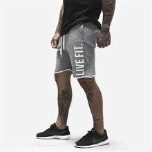2020 homens fitness musculação shorts sweatpants verão calções de ginásio treino masculino respirável algodão roupas esportivas joggers calças curtas