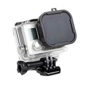 Image 3 - לירות עמיד למים מקרה עדשת מסנני GoPro גיבור 4 3 +/4 שחור כסף פעולה מצלמה אדום מסנן עבור ללכת פרו מצלמת צלילה אבזר