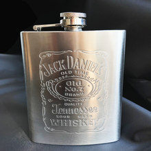 Hot sale portable stainless steel hip flask travel whiskey alcohol liquor bottle flagon Male Small Mini Bottle(China)