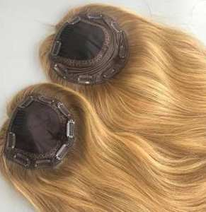 Alishevy Hair-Topper Virgin-Hair Kosher Jewish European Fall Not-Wig Unprocessed