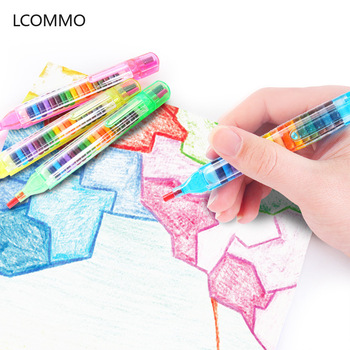 4pcs/lot 20 Colors Crayon Oil Pastels Water Soluble Oil Pastels Painting Drawing Crayons for Kids Art Supplies School Stationery uni colored pencil crayon art drawing crayons school stationery office art supplies oil crayons rip by hand crayon 7600