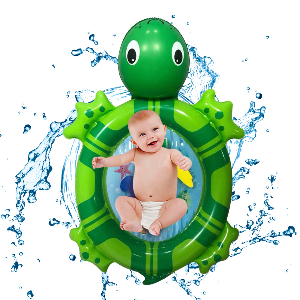 Inflatable Water Mat Sea Turtle Shape Infants Toddlers Play Mat Swimming Toy M09