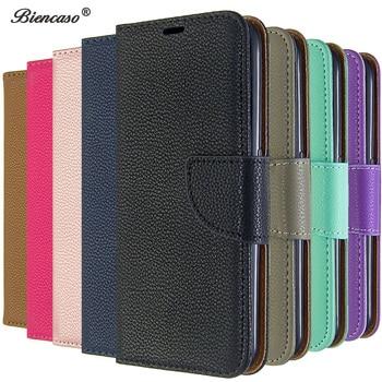 Перейти на Алиэкспресс и купить Чехол личи для Nokia 2,3, сплошной цвет, слот для карты, кошелек, флип, чехлы для Nokia 1 Plus, 2,1, 3,1, 5,1, 2,2, 3,2, 6,2, 7,2, мобильный телефон, сумка