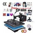 30*38 см 8 в 1 комбинированная термопресс машина сублимационный принтер 2D термопередача ткань крышка Подставка под кружку футболка печатная м...