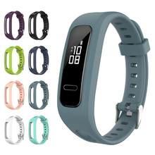 Pulseira inteligente substituição pulseira de pulso para huawei banda 3e silicone pulseira para honra banda 4 running edition