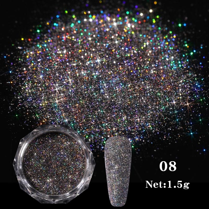 Rose Gold Bubble Mirror Powder Metallic Nail Glitter Holographics Chrome Dust Sparkling Flakes Pigment Manicur Nail Art Decor 23