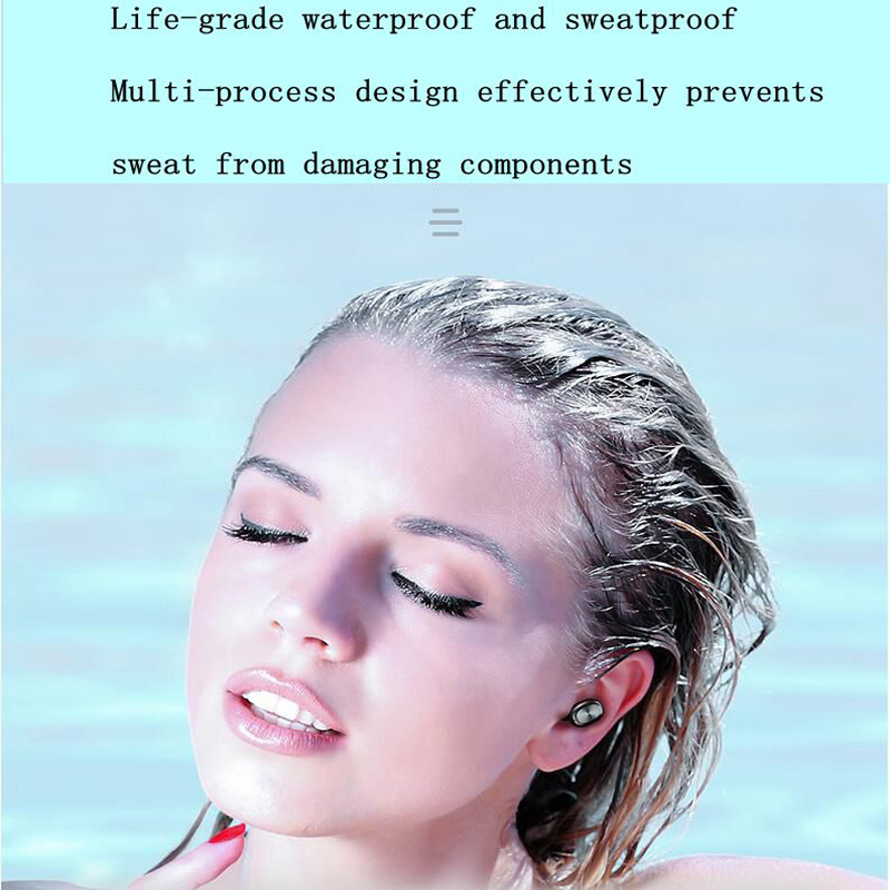 Smart Touch Wireless Binaural Bluetooth Headset 5.0 Sports Second Generation Bluetooth Headset Iphon Android Computer Universal