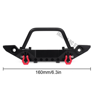 Image 2 - Черный металлический передний бампер с буксировочным крючком для 1:10 радиоуправляемого гусеничного автомобиля Axial SCX10 90046 SCX10 III AXI03007 Traxxas TRX 4