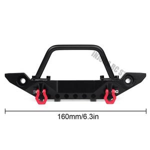 Image 2 - Schwarz Metall Frontschürze mit Abschlepp Haken für 1:10 RC Crawler Auto Axial SCX10 90046 SCX10 III AXI03007 Traxxas TRX 4