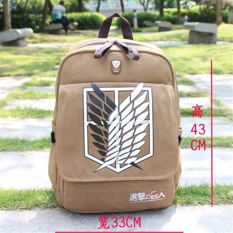 Anime Attack On Titan Backpacks Figure School Shoulders Printing Bag Costumes Men Women Knapsack Travel Bag Shingeki No Kyojin