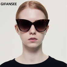 GIFANSEE cateye Sunglasses women oversized shades Anti blue