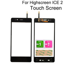 Mobile Touch Panel For Highscreen Ice 2 Ice2 Touch Screen Digitizer Panel Front Glass Sensor Lens Tools 3M Glue