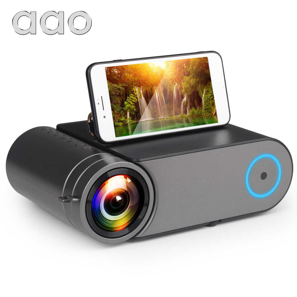 AAO YG420 Mini LED 720 P Native 1280x720 Portable Wireless WiFi Multi Layar Video Beamer YG421 3D g500 1080P Proyektor