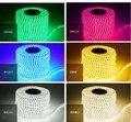 Рождественская Светодиодная лента 5050 водонепроницаемая 220В IP66 Высоковольтная гибкая светодиодная лента штепсельная вилка 60 светодиодов/м ...