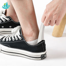 Durable Handle Stainless Steel Metal Silver Color Shoe Horn Lifter Long Shoespooner Shoehorn High Quality klv 1pc 52cm lifter shoehorn durable stainless steel shoe horn long handle d5505