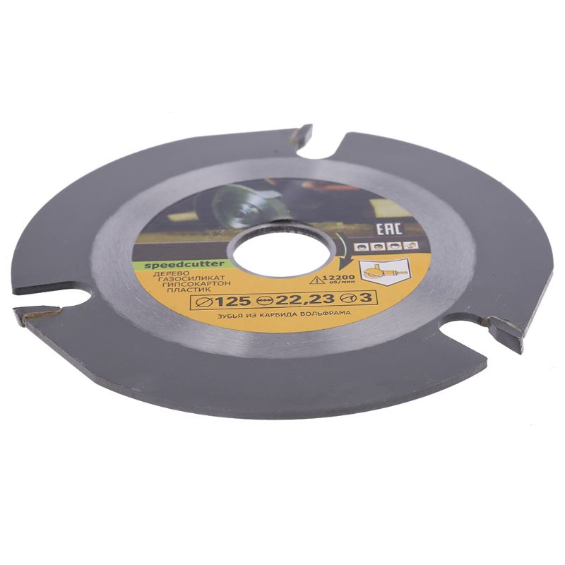 Woodworking Blade For Angle Grinder Disc For Wood Carving Cutting Shaping With 3 Teeth 7/8'' Arbor 5 Inch 125mm 40JE