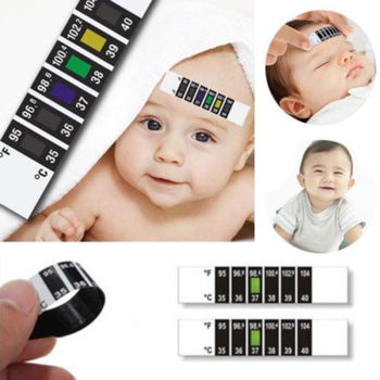 Hot Babies Infant Baby Fever Forehead Strip Head Temperature Test Thermometer Sticker Baby Care Tools Grooming Healthcare Kits image