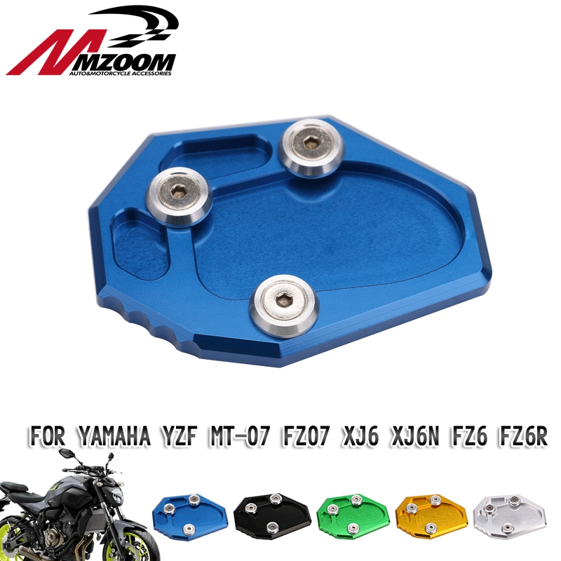 Motorcycle side stand tripod foot extension pad supporting plate for yamaha yzf mt - 07 mt07 mt7 2015 2016 2017