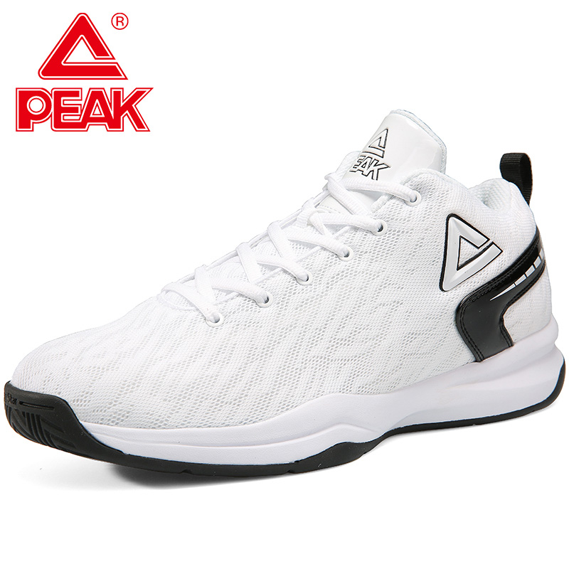 PEAK Basketball Shoes For Men Cushion Comfortable Sneakers Non-slip Weaable Flexible Outdoor Sports