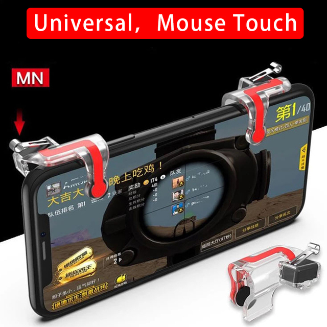 2pcs/lot MN Pubg Controller Shooter Accurate Mobile Gaming Trigger Fire Sensitive Clamp Type Assistant Tool Button Controller