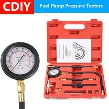 цена на 11Pcs Automotive Fuel Injection Pump Injector Tester Kit Pressure Gauge Test Gasoline 0-100psi Car Diagnostic Tool