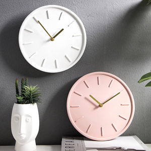 Concrete Clock Silicone Mold 3D Round Home Crafts Decorative Tool(China)