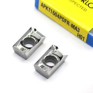 Image 2 - APKT1604 PDFR MA3 H01 100% orijinal alüminyum alaşım bıçak işleme APKT 1604 alüminyum ekler torna kesici aletler dönüm aracı